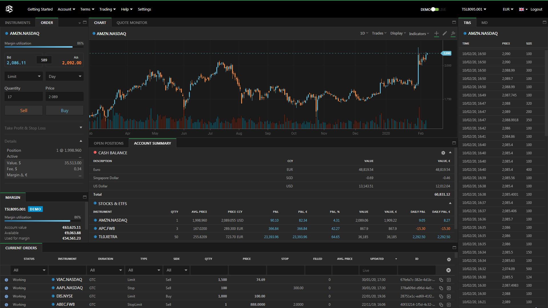 EXANTE Web Trading